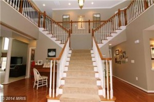 We love this staircase in Courtland Vilage Drive!