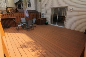 The new deck at Pebble Brook Court - great for entertaining!
