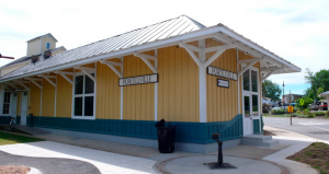 This train station in Purcellville was once part of the W&OD railroad, now the western end of the W&OD trail.