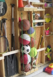 Cables to Store Athletic Balls