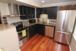 The stunningly updated kitchen in Wyatt Court in Sterling!